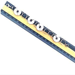Vintage Accessories - VINTAGE 925 Sterling Silver Circle Link Bracelet